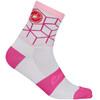 Castelli Vertice Sokker Dame Rosa/Hvit